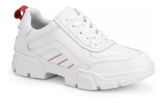 Tenis Feminino Facinelli Conforto Branco E Rosa 52210