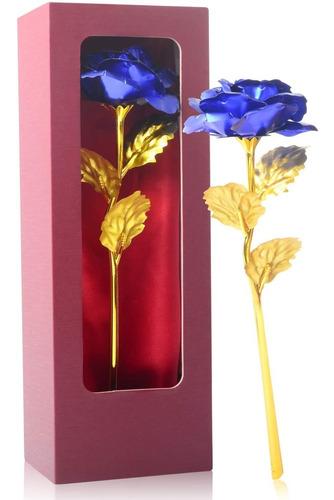 Imagen 1 de 5 de Regalo De Cumpleaños Para Las Mujeres Flor Rosa Azul P...
