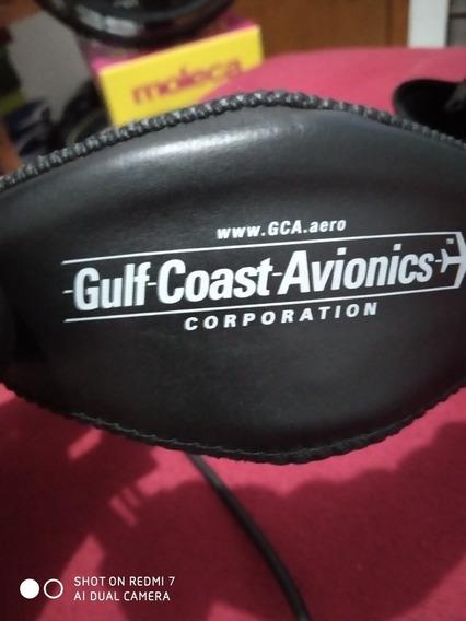 Headset Aeronáutico Gca-4g Bianch Em Ótimas Condições!