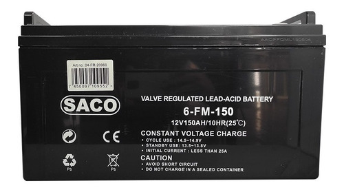 Imagen 1 de 3 de Bateria Plomo Acido 12v 150ah Ciclo Profundo Ups Carritos