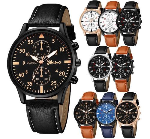 Reloj Geneva Hombre Mayoreo Piel Vinil Proveedor B290.1x