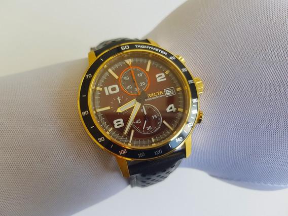 Relógio De Pulso Invicta Aviator 30935 Pulseira De Couro
