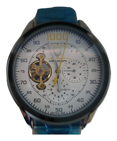 Reloj Tevise 8378 Automático Hombre Plata Blanco