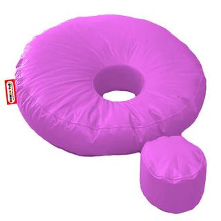 Sillon Puff Hole Estandar Incluye Taburetito, Rosa