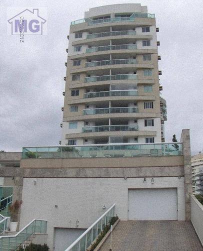 Imagem 1 de 16 de Cobertura Com 3 Dormitórios À Venda, 256 M² Por R$ 1.290.000,00 - Glória - Macaé/rj - Co0009