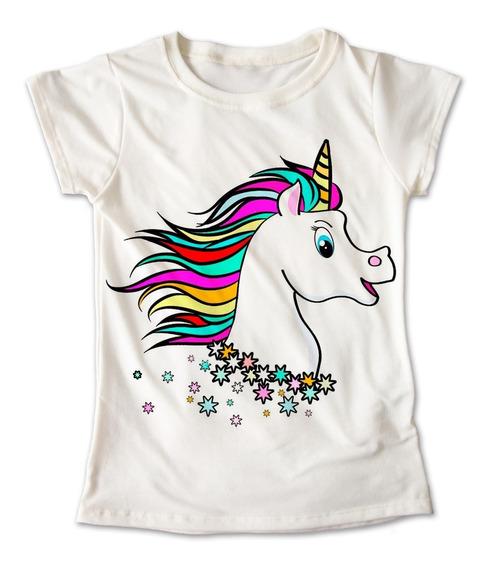 Blusa Unicornio Colores Playera Estampado Niña #257
