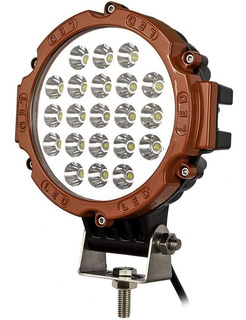 Luces Foco Led Neblinero 63w Redondo 21 Led Off Road/ 206004