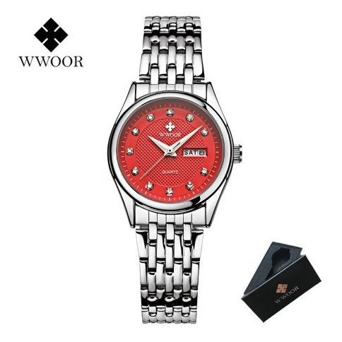 Relógio Feminino Wwoor À Prova D