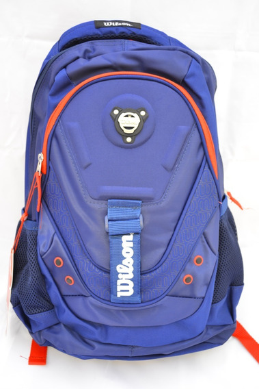 Mochila Original Wilson Escolar Porta Notebook Multiuso Azul