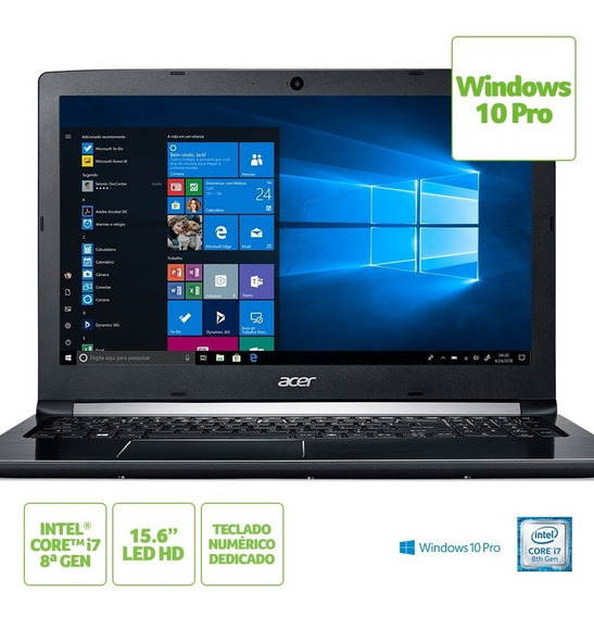 Notebook Acer A515-51-c2tq Intel Core I7 8550u 8gb(2x4gb) 1t