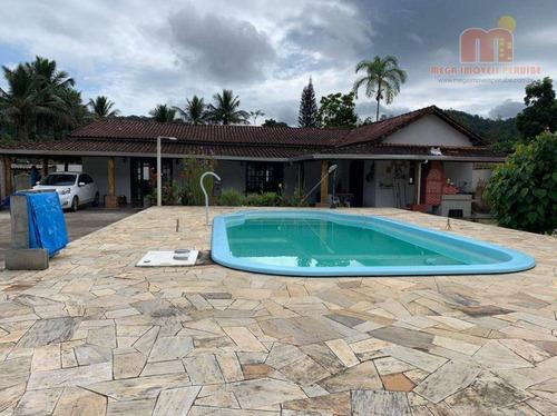 Chácara Com 4 Dormitórios À Venda, 1001 M² Por R$ 350.000,00 - Fazenda São José - Pedro De Toledo/sp - Ch0158