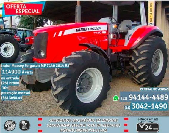 Trator Massey Ferguson Mf 7140 2014-vermelho