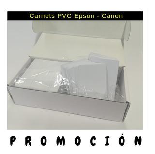 Carnet Pvc Epson Inkjet Caja X 230 Mayorista L800 T50 Envio