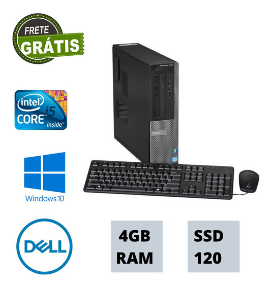 Cpu Nova Dell I5 3470 3,20ghz 4gb Ram Ssd 120gb Win10 Frete