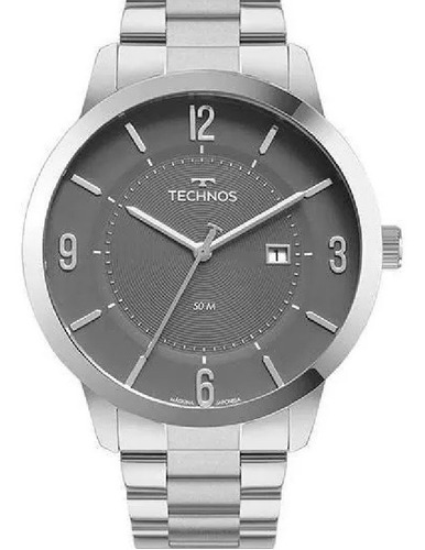 Relógio Technos Masculino Classic Steel 2117lcp/1c Nf