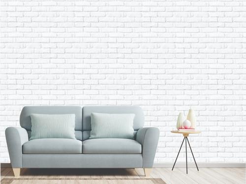 Adesivo De Parede Tijolo Branco Cod 028