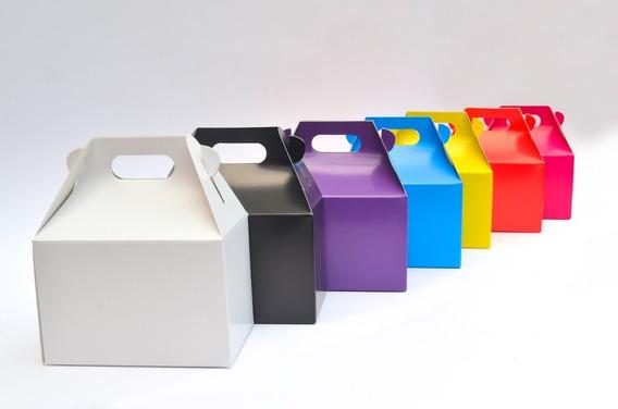 10 Cajas Boxlunch Mediana Colores