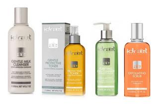 Set X4 Productos Premium Limpieza Facial Profunda Idraet
