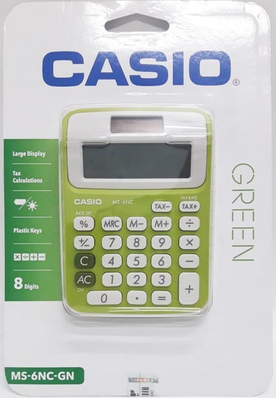Calculadora Casio Ms6ncgn 8 Digitos Portatil