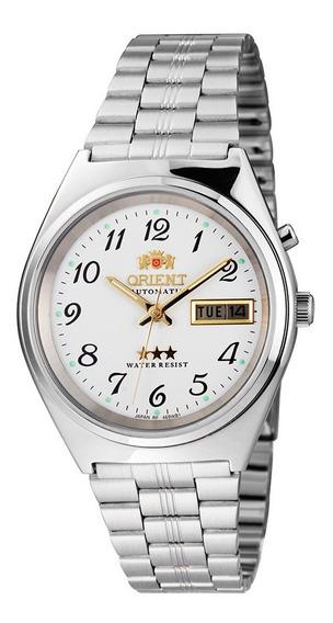 Relógio Orient Analógico Automático 469wb1ab2sx Prata