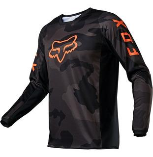 Jersey Fox 180 Trev Negro Camo Motocross Enduro