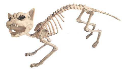 Imagen 1 de 1 de Decorativo Esqueleto De Gato Cat Skeleton Halloween