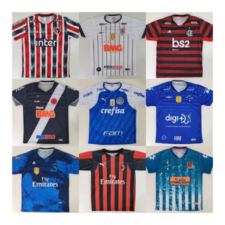 Vetor Camisas Time Futebol Brasileiros E Europeus (unidade)