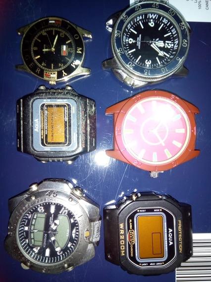Relógios: Lote Com 6 (seis) Peças Diversas Marcas.