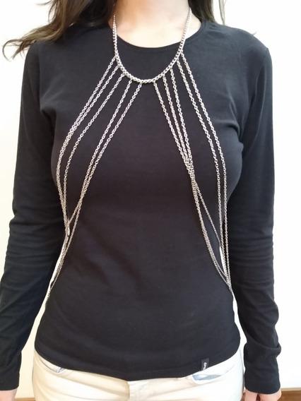 Colar Body Chain, Correntes De Corpo, Cintura, 2 Em 1
