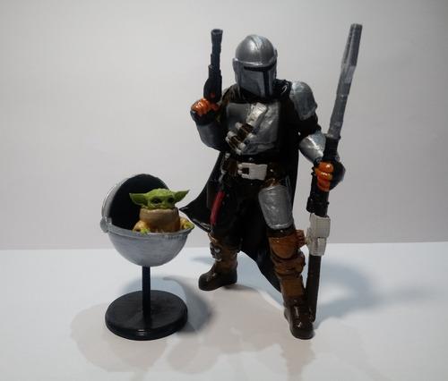 Mandalorian + Yoda Baby - Star Wars - Impresión 3d
