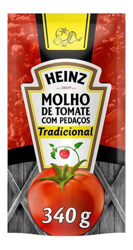 Molho De Tomate Heinz Tradicional Em Sachê 340g