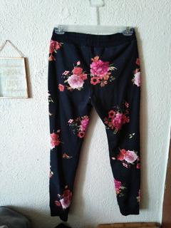 Pants Florales Para Niña Seminuevos