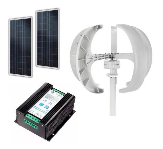 Kit Generador Eólico + Controlador Híbrid + Panel Solar 150w