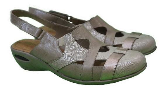 Zapato Cuero Mujer Combinado Art 231. Marca Descansito