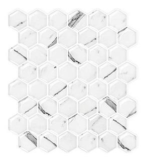 Stickgoo Placa Para Salpicaduras De Azulejos De Mármol Blanc