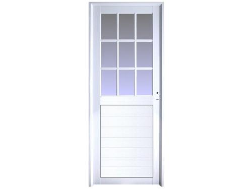 Imagen 1 de 8 de Puerta Aluminio 80x200 M511 Mitad Vidrio Repartido Promo