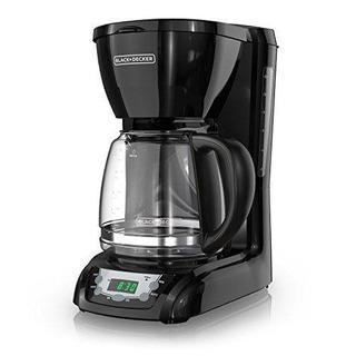 Black Decker Cafetera Programable 12 Tazas Negra Dlx1050b