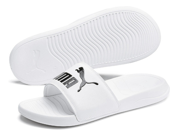 Chinelo Puma Adulto Pop Cat Branco - 3722
