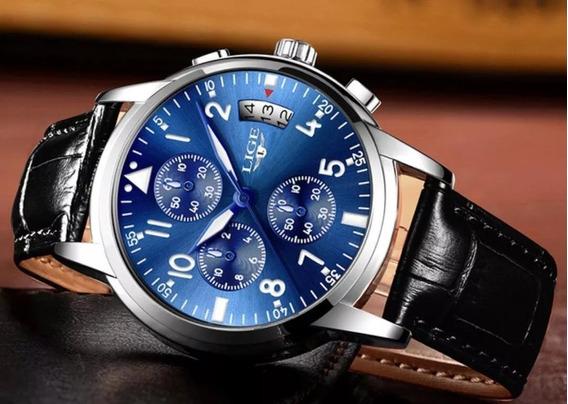 Relógio Masculino Original Lige Prova D