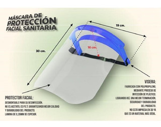Mascara Protectora Facial Pet Acrilico Barbijos Salud