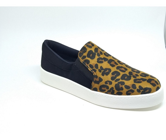 Tênis Feminino Slip On Bebecê 2113367 Animal Print