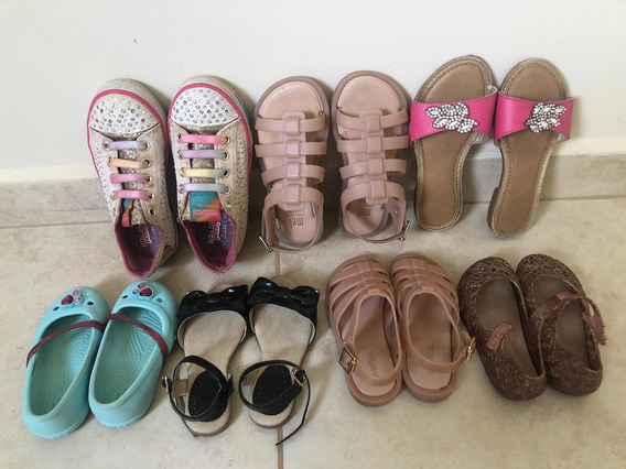 Tênis Skechers, Melissa, Pampili E Crocs - Lote Com 7 Pares