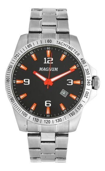 Relógio Masculino Magnum Ma34978j - 2 Anos De Garantia