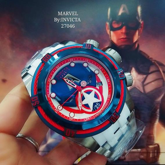 Relógio Invicta 27046 Prata Capitão América Borrach - Marvel