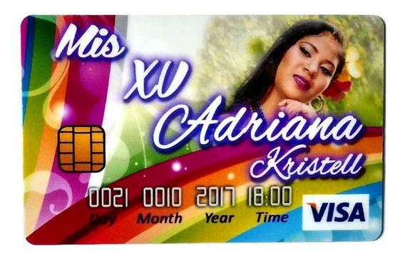 30 Invitaciones Tarjeta De Credito Personalizadas Fiesta