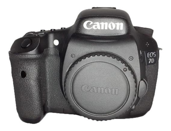 Câmera Canon Eos 7d Ótimo Estado + Cartão De Memória + Bolsa