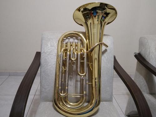 Imagem 1 de 7 de Bombardino Eufonio Janhke Sib Novo 4 Pistos  -tuba Trombone