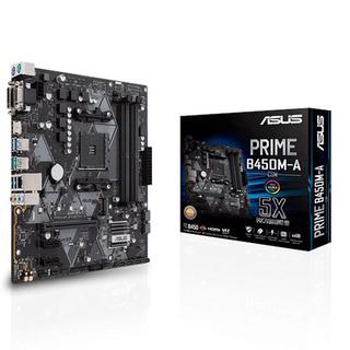 Asus Motherboard Amd B450m-a Csm Prime Am4 Aura Sync Vga Hdm