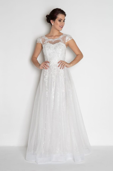 Vestido Casamento Branco Noiva Bordados