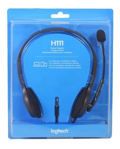 Auricular Vincha Headset Logitech H111 Micrófono 3.5mm Minip